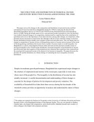 THE STRUCTURE AND DISTRIBUTION OF PERSONAL ... - PERI