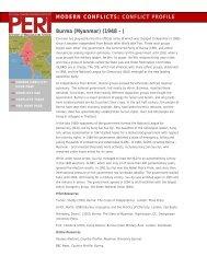 Myanmar conflict profile - PERI