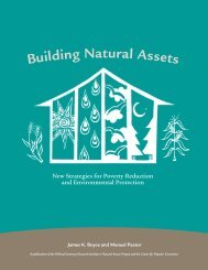 New Strategies for Poverty Reduction and Environmental Protection