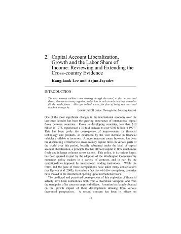 Capital Account Liberalization, Growth and the Labor Share of Income