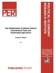 Papers - Political Economy Research Institute - University of ...