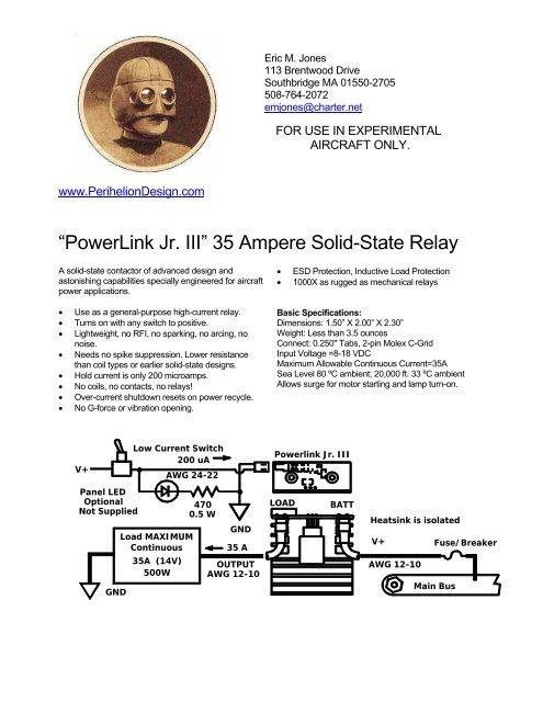 Installation Manual (pdf) - Perihelion Design