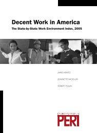 Decent Work in America - Political Economy Research Institute ...