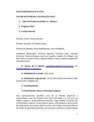 Taller de Producción Gráfica II – Cáted - Facultad de Periodismo y ...