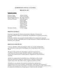 Antropologia Social y Cultural - Facultad de Periodismo y ...