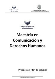 Proyecto Maestría Com. DDHH - Facultad de Periodismo y ...