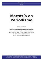 Doctorado en Comunicación - Facultad de Periodismo y ...