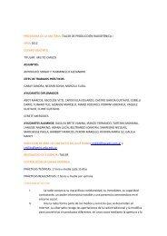 Taller de Producción Radiofónica I - Facultad de Periodismo y ...