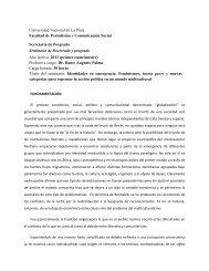 Facultad de Periodismo y Comunicación Social - Universidad ...