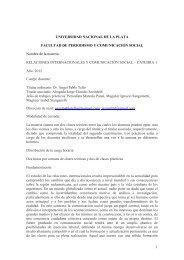 Relaciones Internacionales y Comunicación - Cátedra I