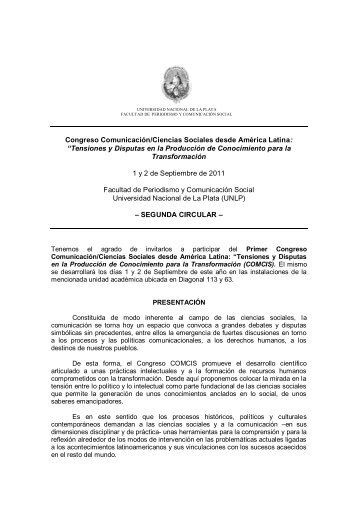 Congreso Comunicación/Ciencias Sociales desde América Latina ...