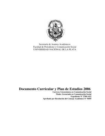 Proyecto Nuevo Plan de Estudios-Licenciatura (Versión 2006)