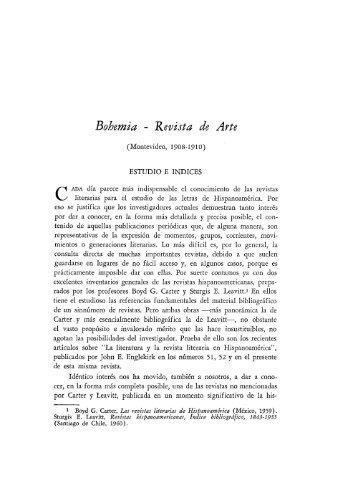 Bohemia - Revista de Arte - Publicaciones Periódicas del Uruguay