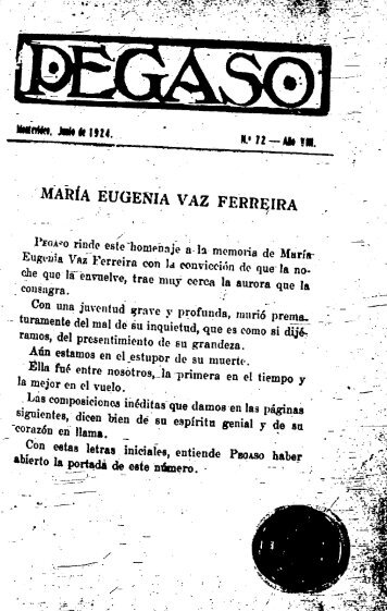 maría eugenia vaz ferreira - Publicaciones Periódicas del Uruguay