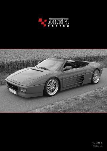 Ferrari F348 Product List - Dimex Group