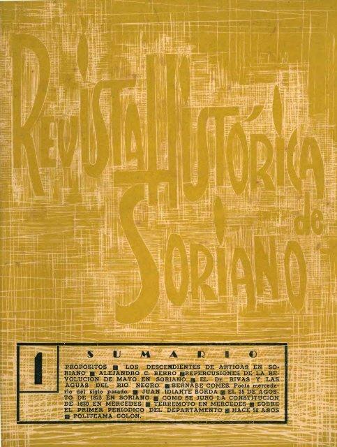 Año 1, n° 1 - Publicaciones Periódicas del Uruguay