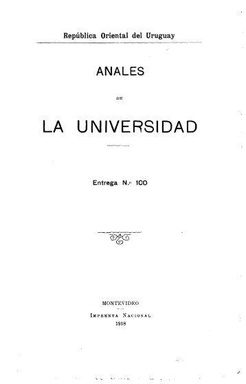 Año 28, entrega 100 (1918) - Publicaciones Periódicas del Uruguay