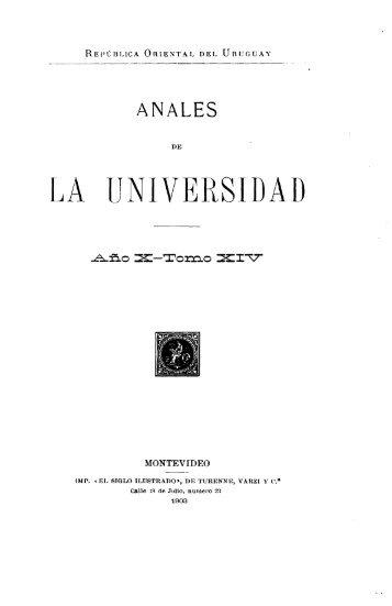 Año 10, t. 14, entrega 1 (1903) - Publicaciones Periódicas del Uruguay