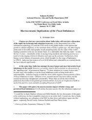 Macroeconomic Implications of the Fiscal Imbalances, Kalpana ...