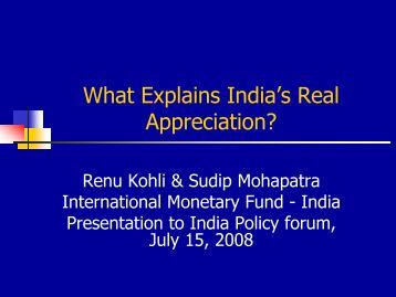 The NCAER-Brookings Institution India Policy Forum, New Delhi, 15 ...