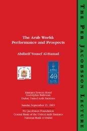 The Arab World - Per Jacobsson Foundation