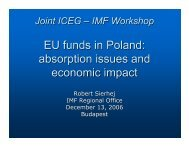EU funds in Poland: absorption issues and economic impact ... - IMF