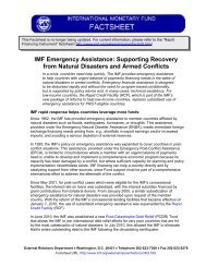 IMF Emergency Assistance: Supporting Recovery from Natural ...