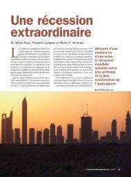 Une récession extraordinaire - Finances et Développement ... - IMF