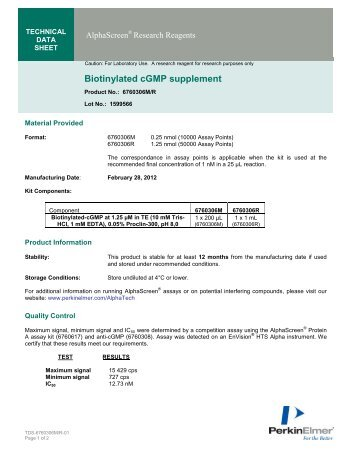 Biotinylated cGMP supplement - PerkinElmer