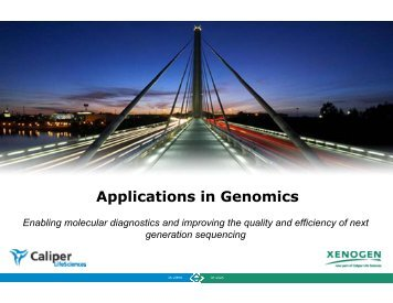 Applications in Genomics - PerkinElmer