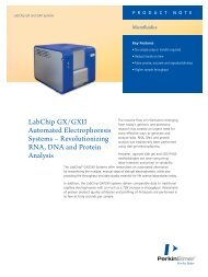 LabChip GX/GXII Automated Electrophoresis Systems ... - PerkinElmer