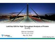 LabChip GXII for High Throughput Analysis of Protein ... - PerkinElmer