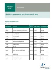 AlphaLISA immunoassay kits - protocols - PerkinElmer