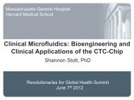 Clinical Microfluidics: Bioengineering and Clinical ... - PerkinElmer