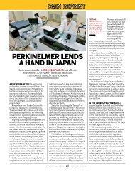 PERKINELMER LENDS A HAND IN JAPAN