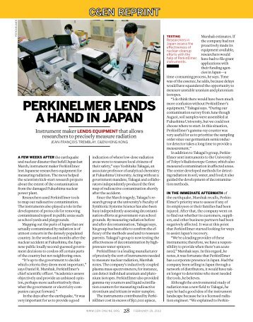 PERKINELMER LENDS A HAND IN JAPAN