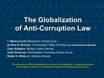 The Globalization of Anti-Corruption Law - Perkins Coie