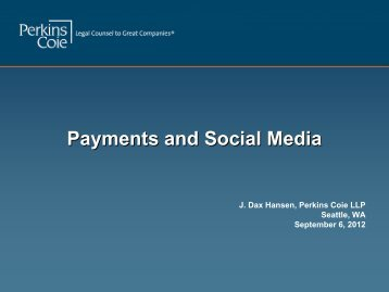 Payments and Social Media - Perkins Coie
