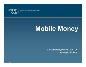 Mobile Money - Perkins Coie