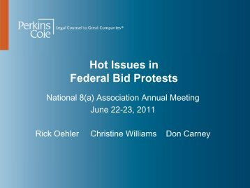 Hot Issues in Federal Bid Protests - Perkins Coie