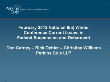 Suspension and Debarment - Perkins Coie