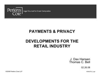 payments & privacy developments for the retail industry - Perkins Coie