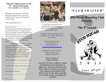 Stud Squad Wrestling Camp - Perkins Local Schools