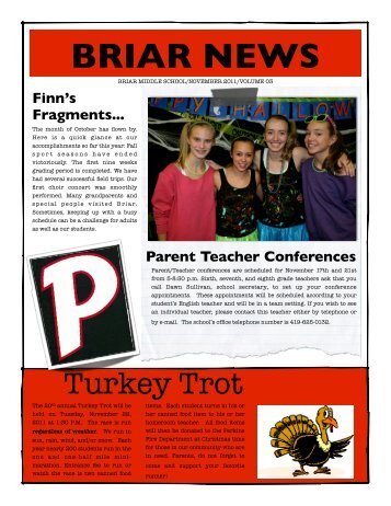 Briar November Newsletter - Perkins Local Schools