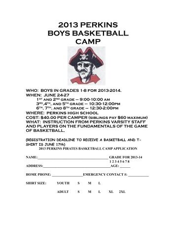 Boys Basketball Camp - Perkins Local Schools