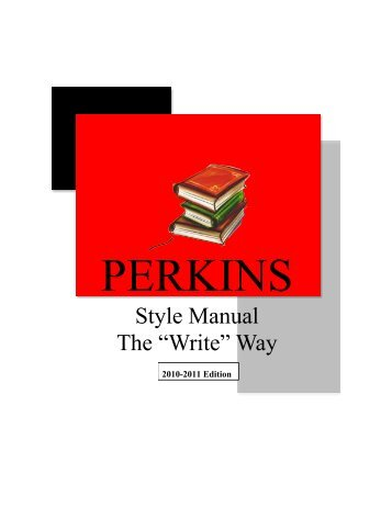 MLA Style Guide - Perkins Local Schools