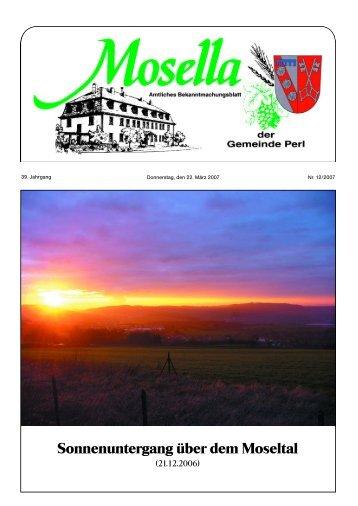 Sonnenuntergang über dem Moseltal - Perl