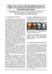 TiMgN – Eine innovative PVD-Hartstoffbeschichtung im Vergleich mit