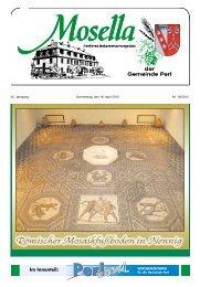 Römischer Mosaikfußboden in Nennig - Perl
