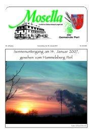 Sonnenuntergang am 14. Januar 2007, gesehen vom ... - Perl